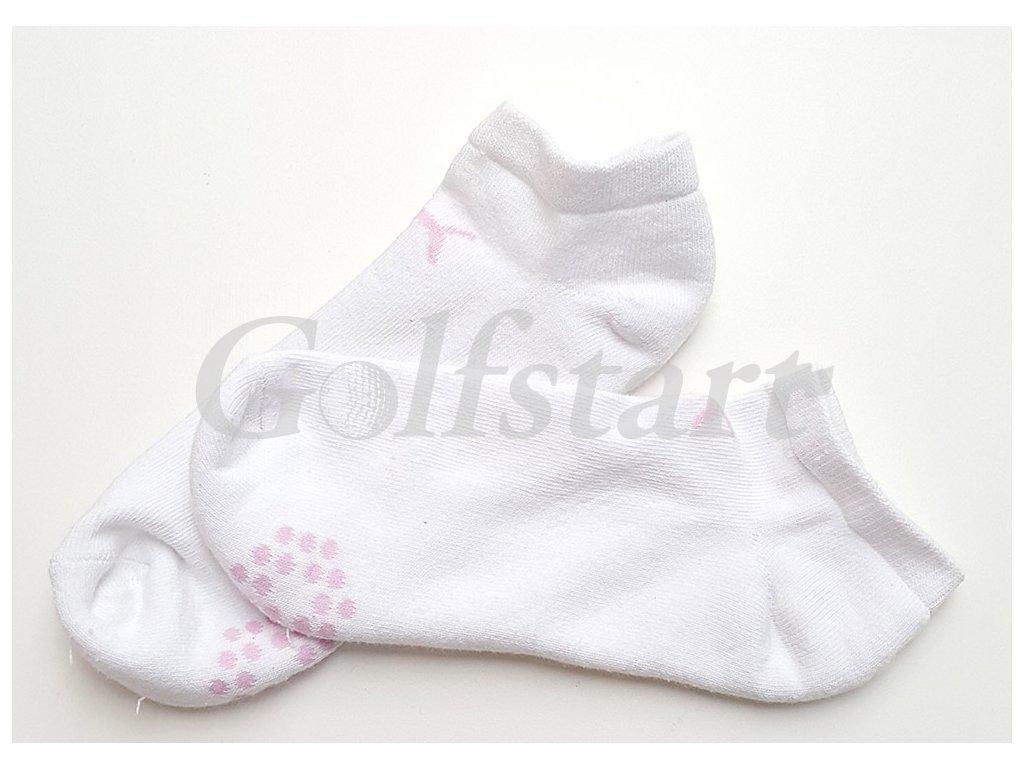 Puma Sport Low Cut dámské golfové ponožky bílo růžové