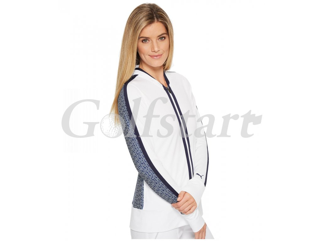 Puma Golf Hoodie dámská golfová bunda bílá