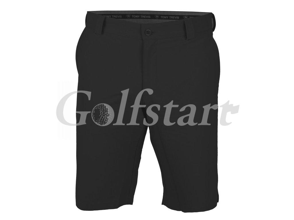 Tony Trevis pánské golfové kraťasy SlimFit černé