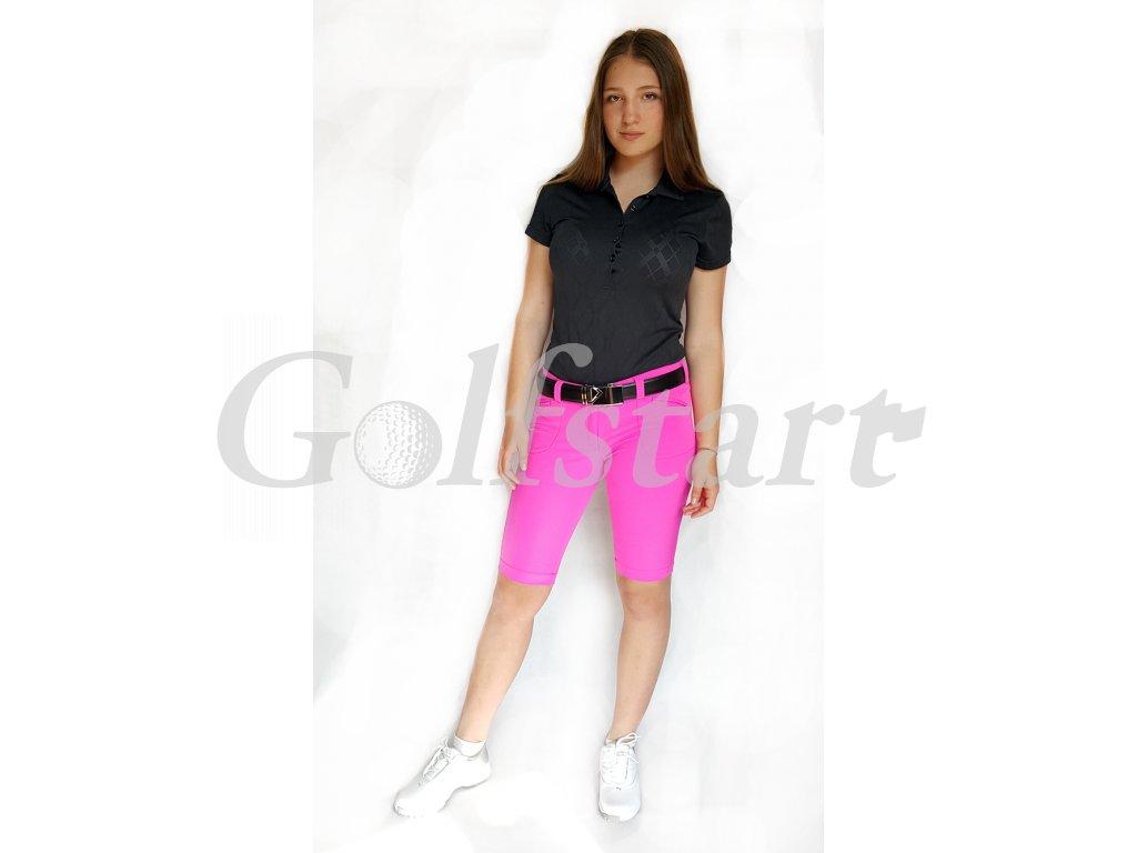 Tony Trevis dámské golfové kraťasy SlimFit pink - Golfstart.cz 08985243d3