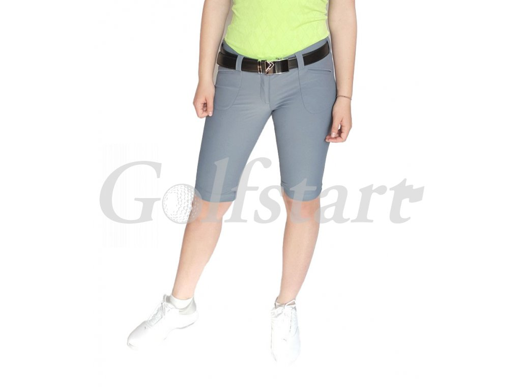 Tony Trevis dámské golfové kraťasy SlimFit šedé
