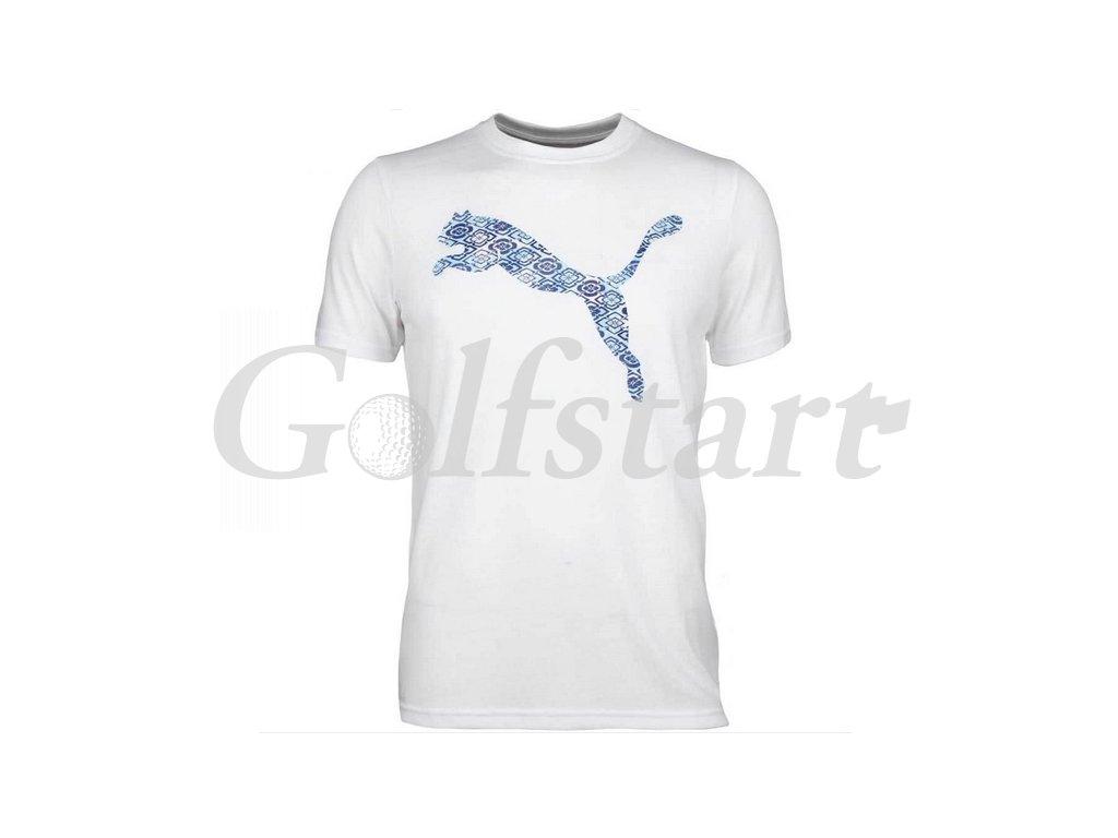 Puma Big Cat Golf Tee tričko bílé