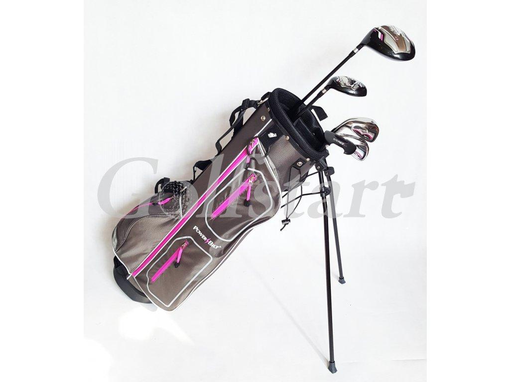 PowerBilt TPX dámský golfový 1/2 set, grafitový, levý