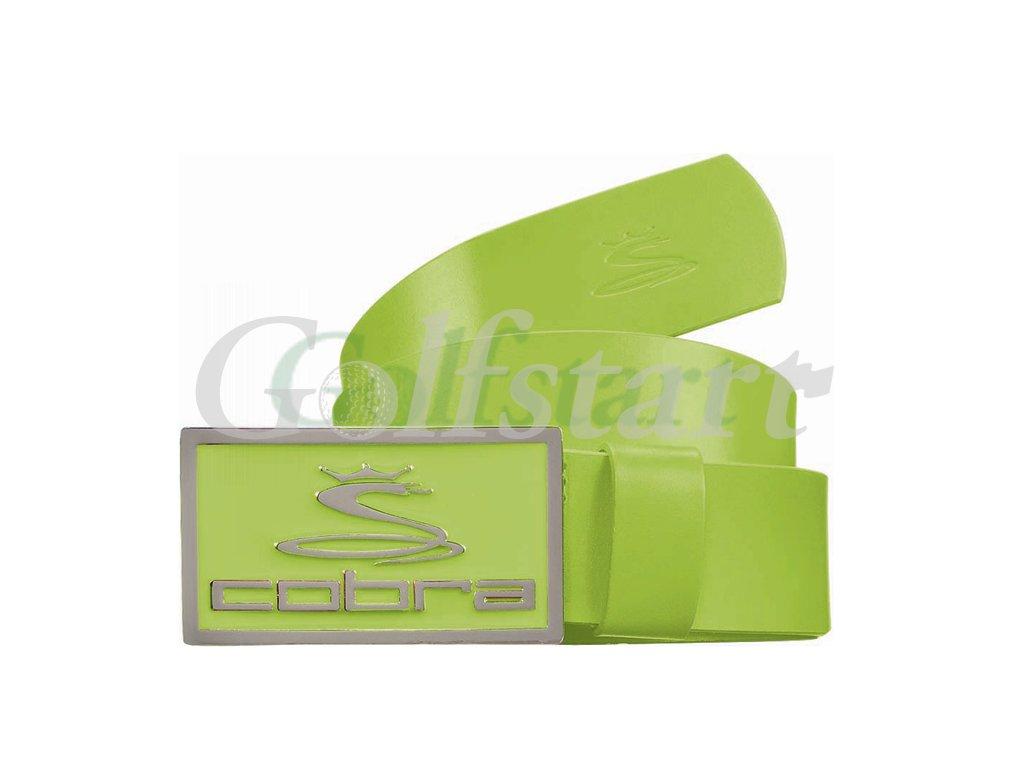 Cobra Enamel Fitted pánský kožený golfový pásek zelený