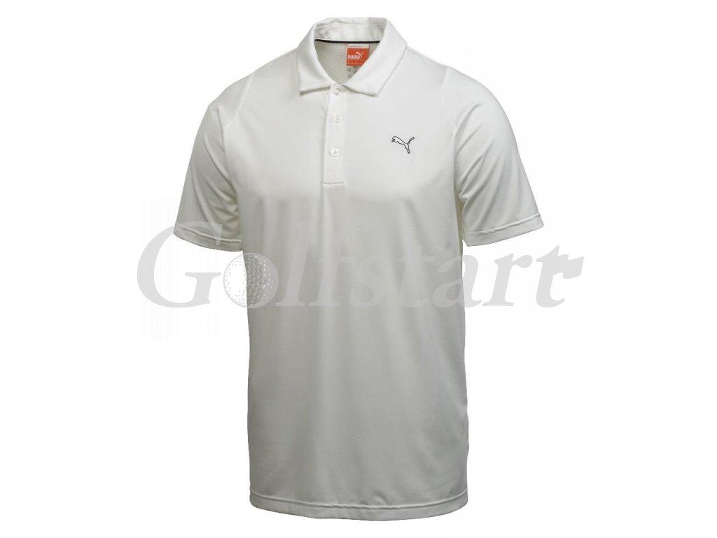 Puma junior Solid Tech dětské golfové tričko bílé