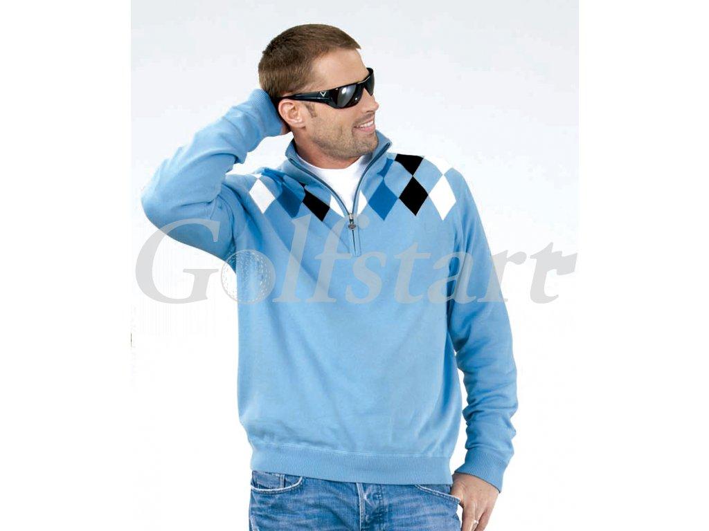 Callaway Sport pánský golfový svetr modrý