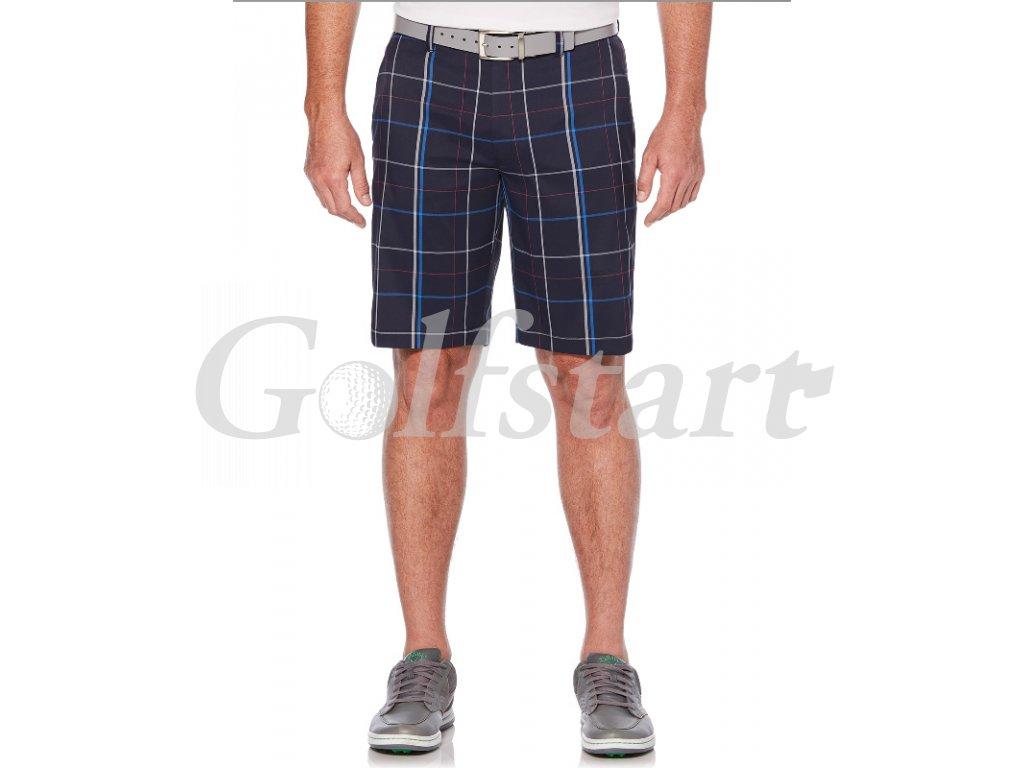 Callaway pánské golfové kraťasy s kostkami tmavě modré
