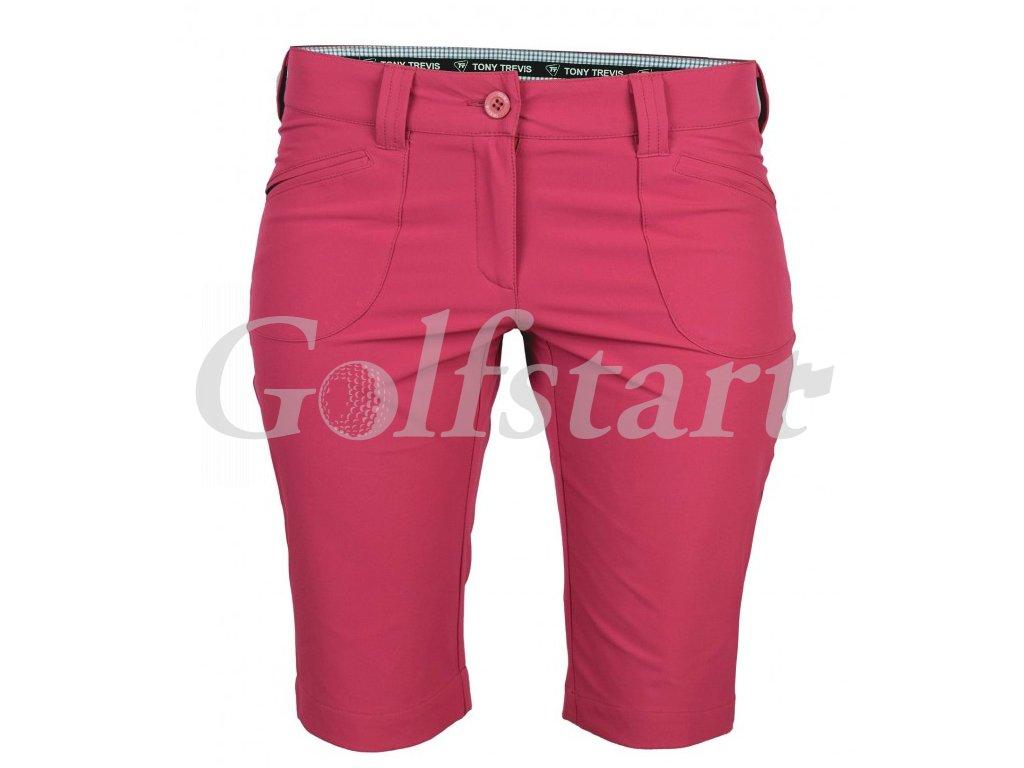 Tony Trevis dámské golfové kraťasy SlimFit lososová - Golfstart.cz c87010274c