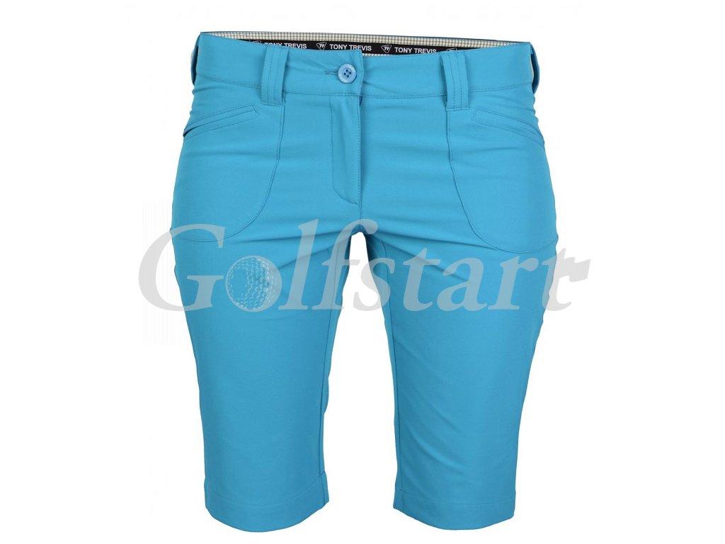 Tony Trevis dámské golfové kraťasy SlimFit modrá - Golfstart.cz a8e4361231