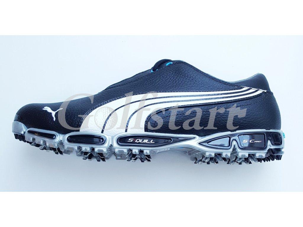 Puma ISO PRO pánské kožené golfové boty černé - Golfstart.cz 1117d8ccad0