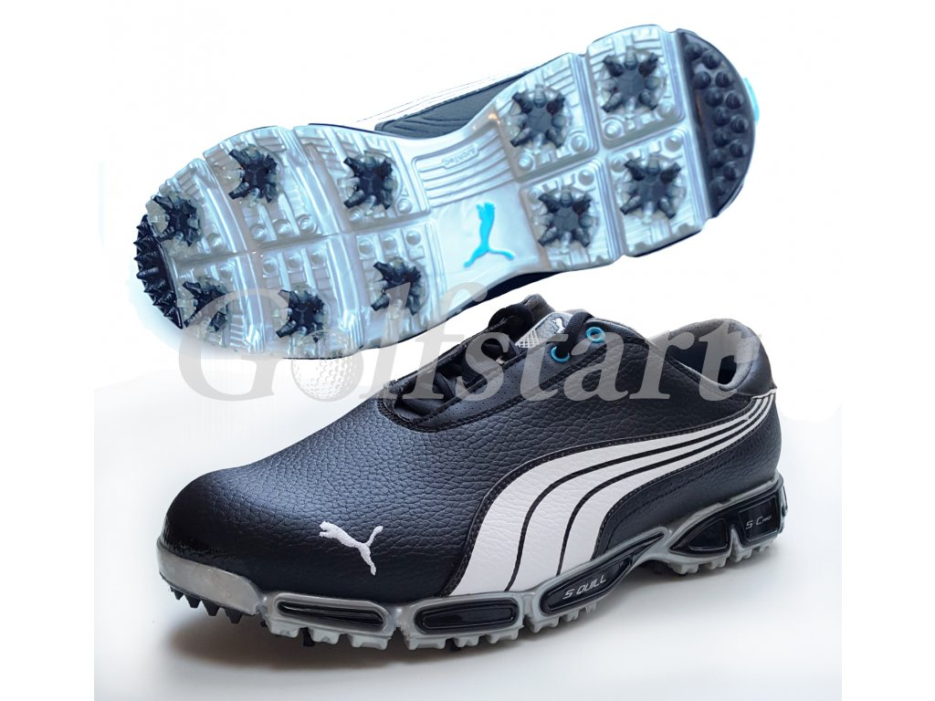 Puma ISO PRO pánské kožené golfové boty černé