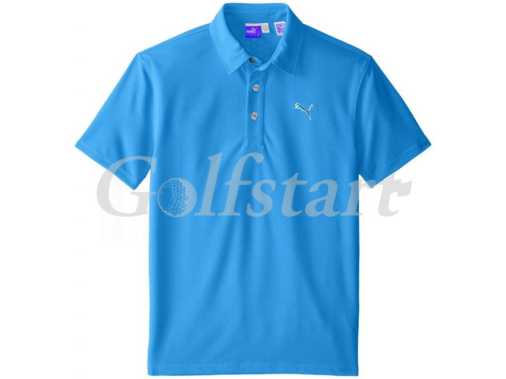 Puma Tech juniorské golfové tričko modré