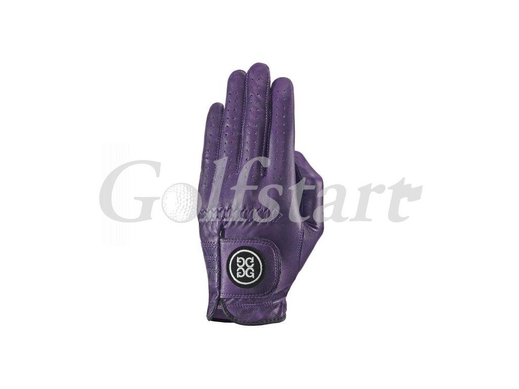 Dolce Gabana luxusní dámská kožená golfová rukavice fialová LEVÁ L
