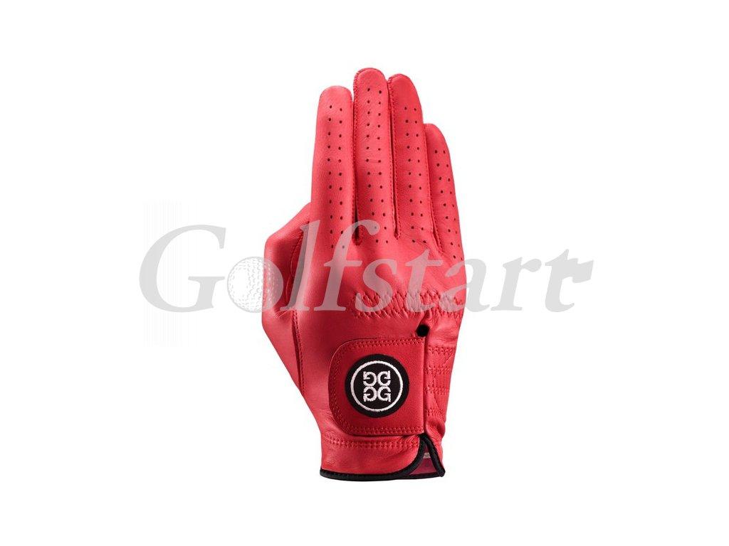 Dolce Gabana luxusní dámská kožená golfová rukavice červená