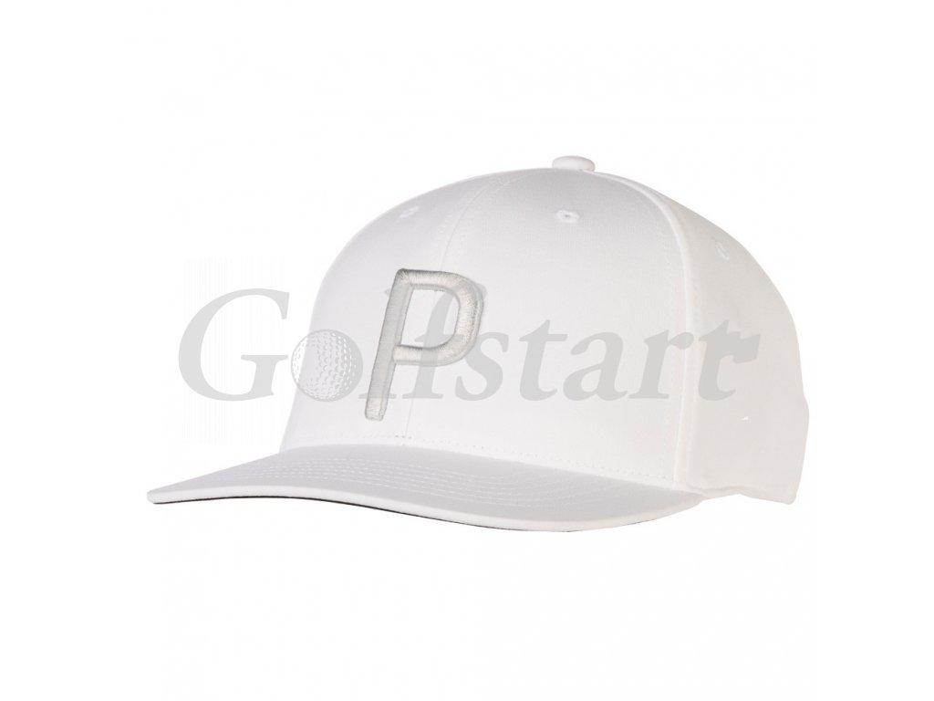 Puma P 110 pánská golfová čepice bílá