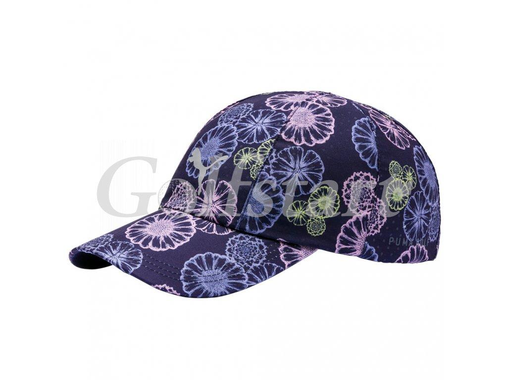 Puma Daily dámská golfová čepice modrá s květy