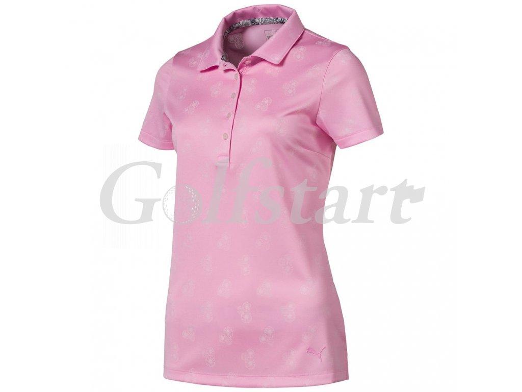 Puma Burst Into Bloom dámské golfové tričko růžové