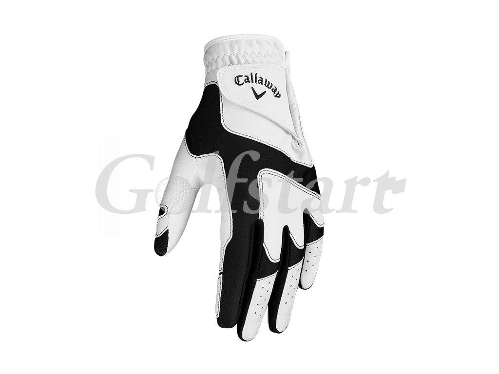 Callaway OPTI FIT dámská golfová rukavice bílo černá LEVÁ
