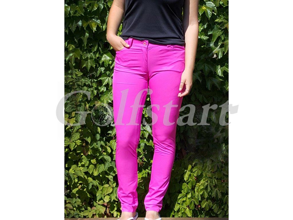 Tony Trevis dámské golfové kalhoty SlimFit tmavě růžové