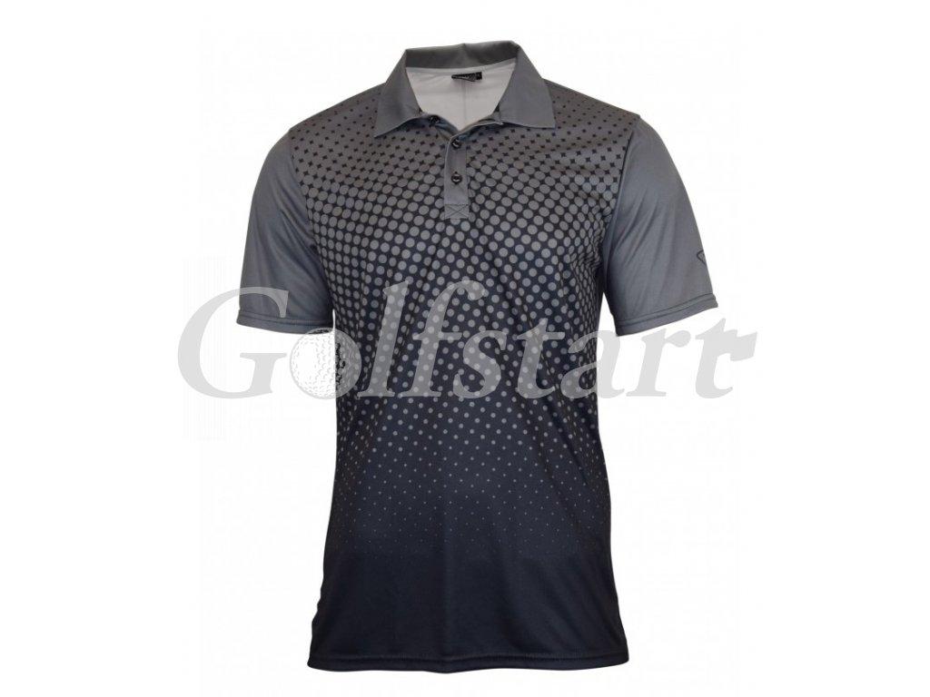 Tony Trevis pánské golfové tričko černo šedé