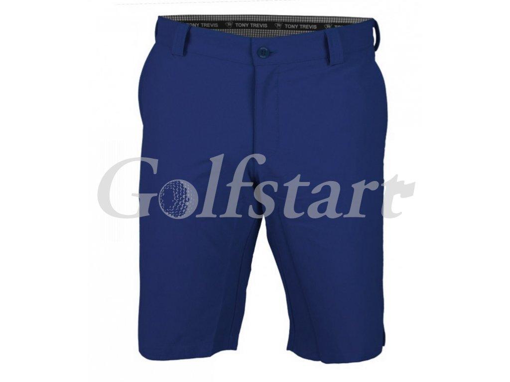 Tony Trevis pánské golfové kraťasy SlimFit tm modré