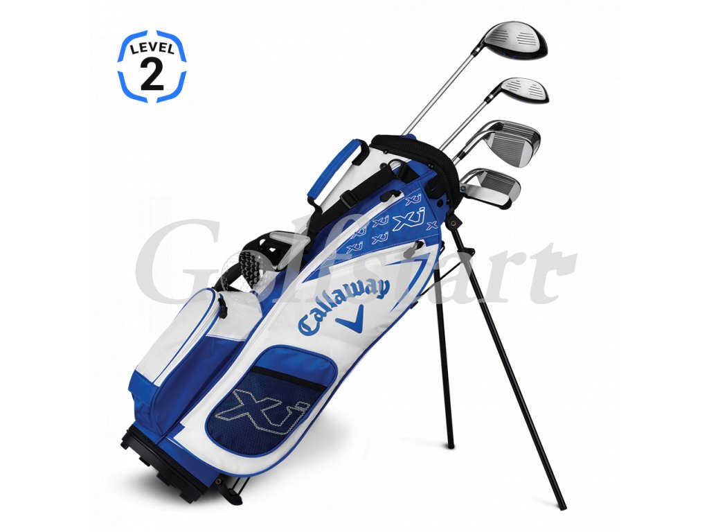 Callaway XJ Junior level 2 - juniorský golfový set bílý