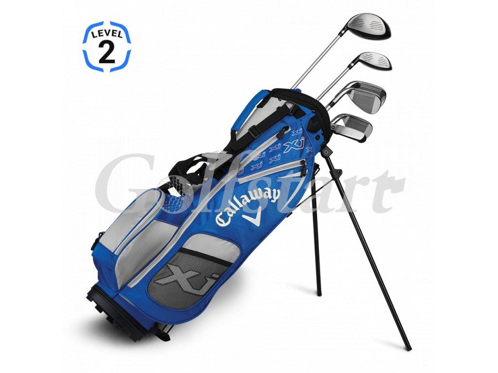 Callaway XJ Junior level 2 - juniorský golfový set modrý RH