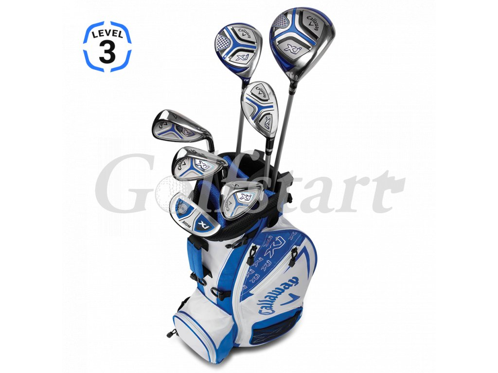 Callaway XJ Junior level 3 - juniorský golfový set bílý