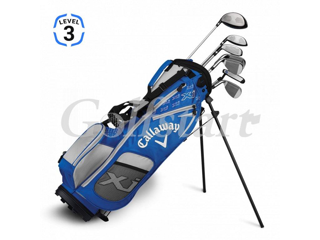 Callaway XJ Junior level 3 - juniorský golfový set modrý RH