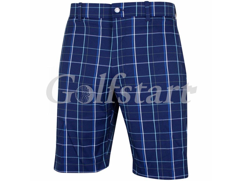 Callaway pánské golfové kraťasy modré s kostkami