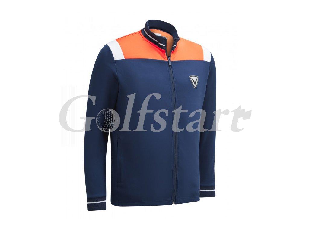 Callaway Color Block pánská golfová bunda na zip modrá