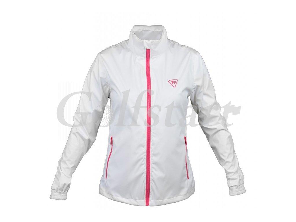 Tony Trevis dámská golfová bunda do větru a deště bílá