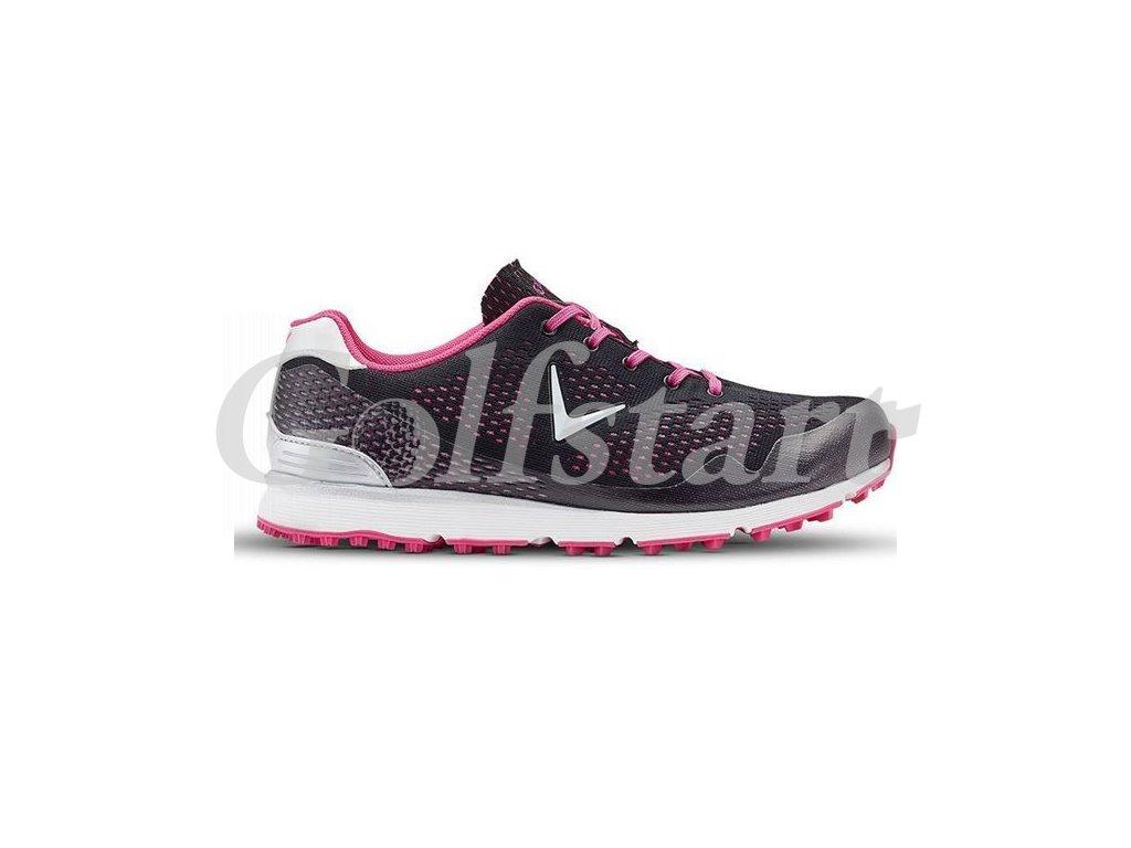 Callaway Solaire dámské golfové boty černo růžové spikless