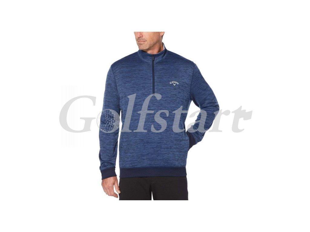 Callaway juniorská termo nepromokavá golfová mikina - tmavě modrý melír