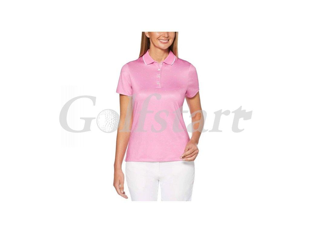 Callaway dámské golfové tričko All Over Chevron růžové