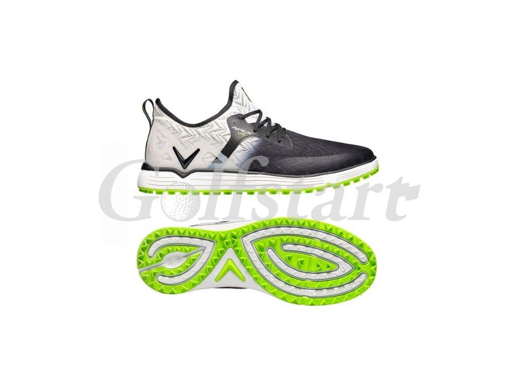 Callaway Apex Lite pánské golfové boty bílo černé