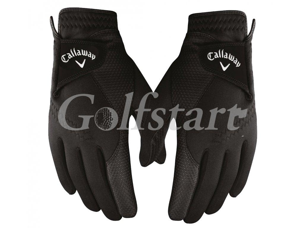 Callaway pánské golfové rukavice Thermal Grip- PÁR černé