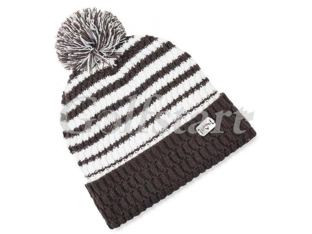 Callaway zimní pletená čepice černo/bílá unisex