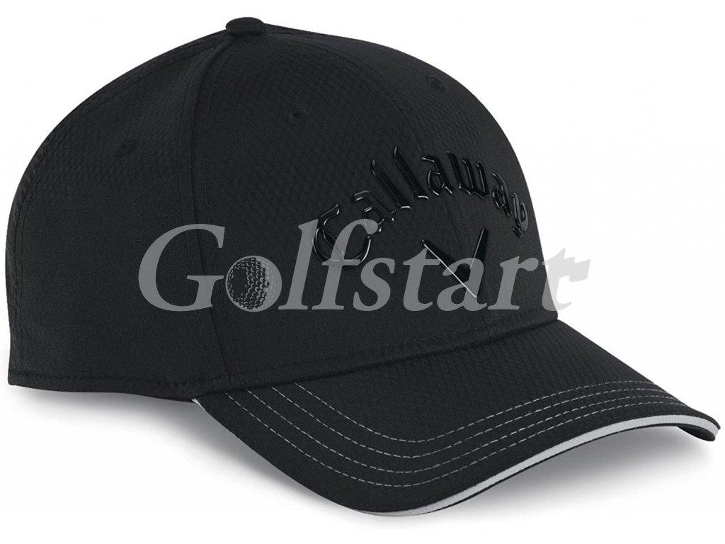 Callaway pánská golfová čepice Liquid Metal černá