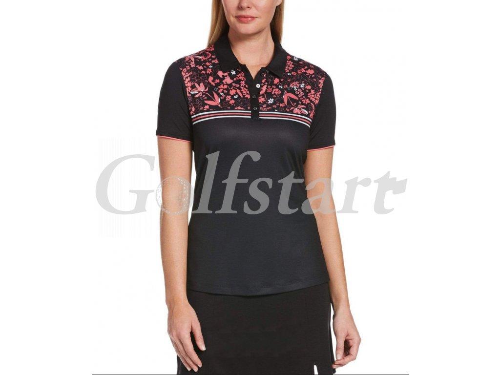 Callaway dámské golfové tričko Chest Floral černo růžové
