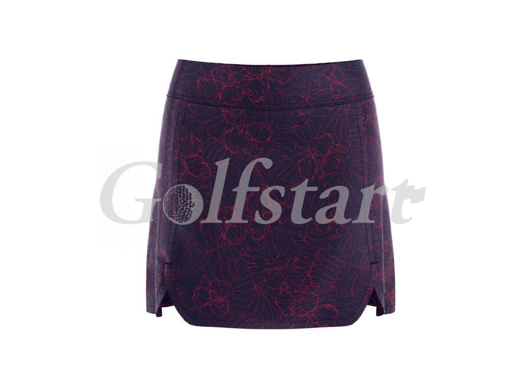 Callaway dámská golfová sukně Tropical Print tm. modrá