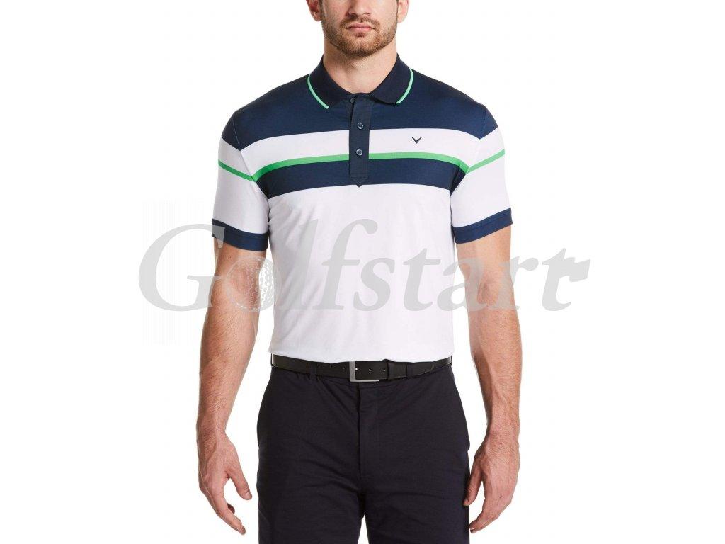 Callaway pánské golfové tričko s pruhy bílé