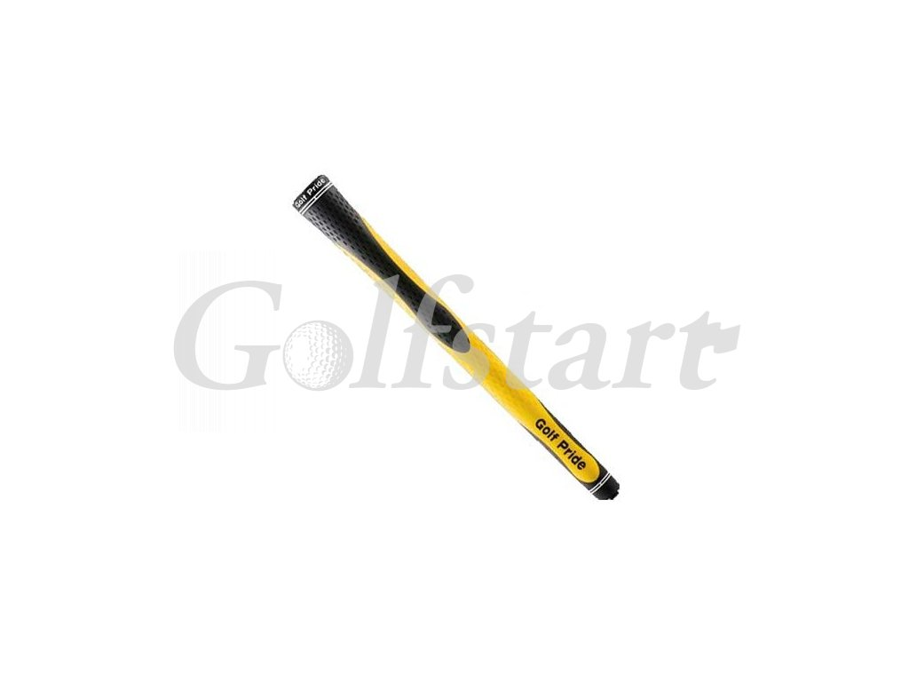 Grip - Golf Pride DD2 Dual Durometer Midsize - černo/žlutý