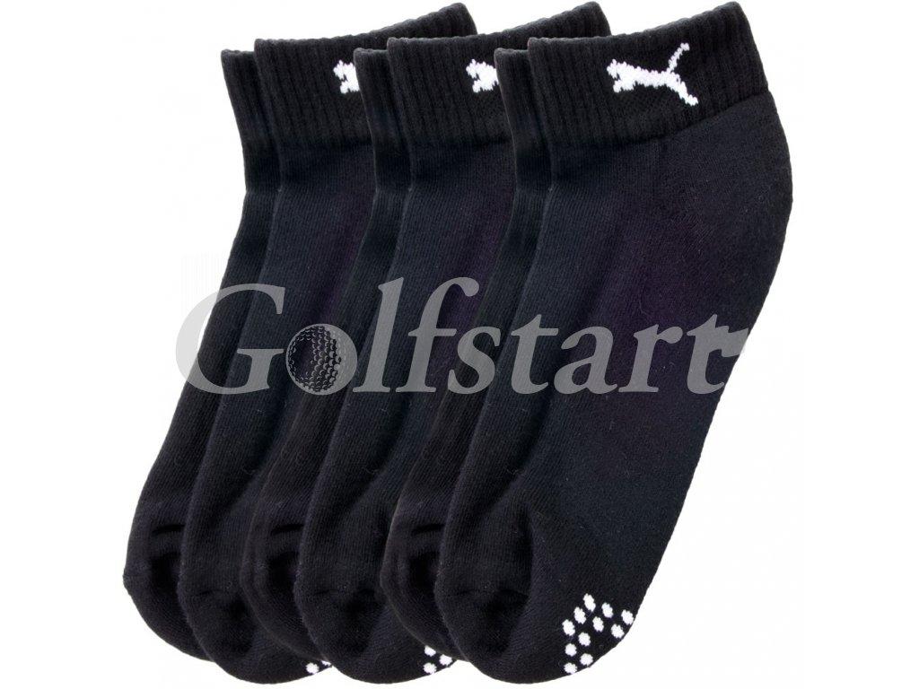 Puma pánské golfové ponožky Sport quarter černé 3 páry
