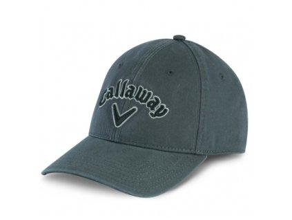Callaway Heritage pánská golfová čepice šedá/černé logo