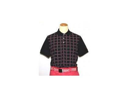 BackTee CoolPlus golfové tričko kostkované černé