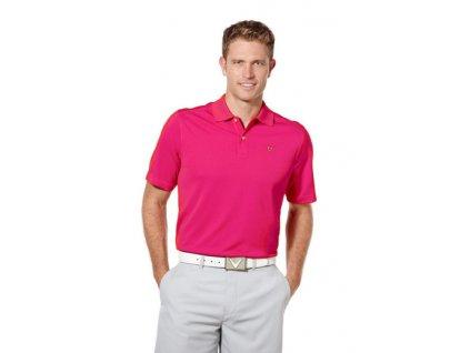 Callaway Stitched Detailed pánské golfové tričko malinové