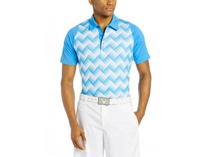 Puma graphic Tech pánské golfové tričko světle modré
