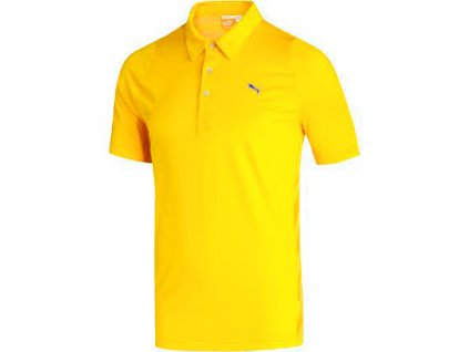 Puma pánské golfové tričko žluté
