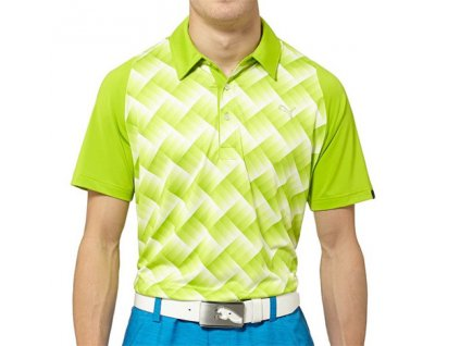 Puma Graphic Tech Polo lime green pánské